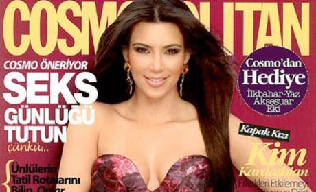 Kim Kardashian Irate Over Turkish Cosmo Cover