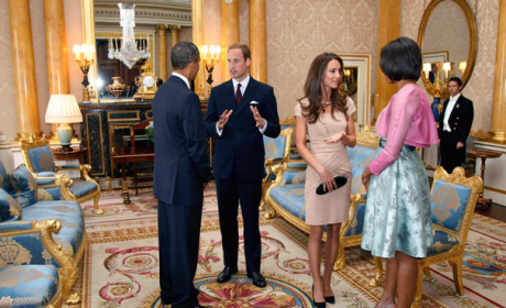 Prince William, Kate Middleton Meet Barack and Michelle Obama!