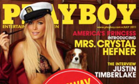 Crystal Harris Playboy Cover: Runaway Bride Edition!
