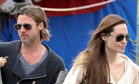 Brad Pitt, Angelina Jolie Staging PDAs, Photo Ops?