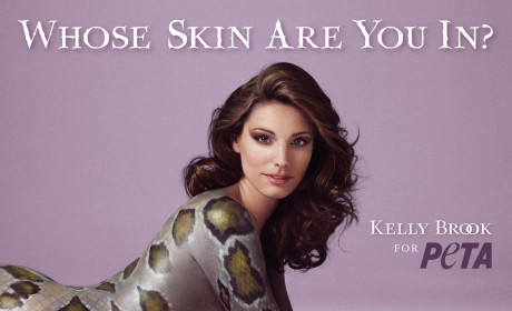 Kelly Brook: Nude, Slithering For PETA