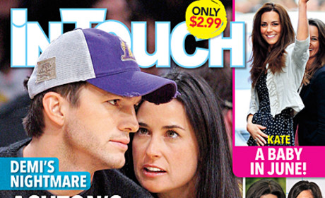 Ashton Kutcher Tabloid Coverage: The Love Child! The Photographic Proof! The Move Out!