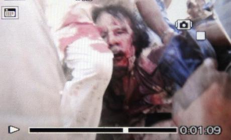 Moammar Gadhafi Death Photo, Video Released