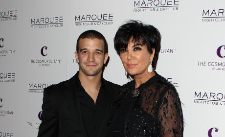 Mark Ballas and Kris Jenner