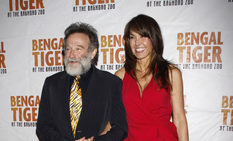 Robin Williams and Susan Schneider