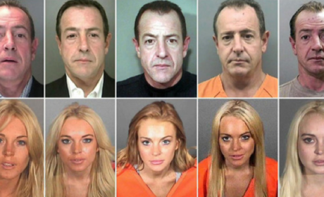 Michael vs. Lindsay: Lohan Mug Shot Showdown!