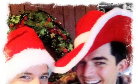 Adam Lambert and Sauli Koskinen on Christmas Eve