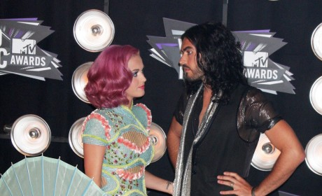 Katy Perry With Russell Brand