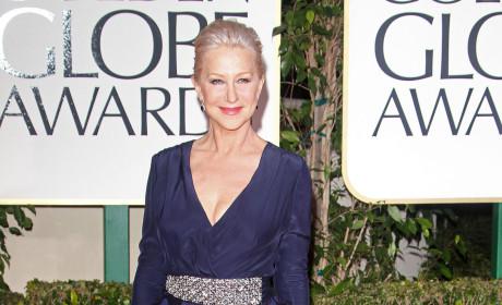 Helen Mirren at the Golden Globes