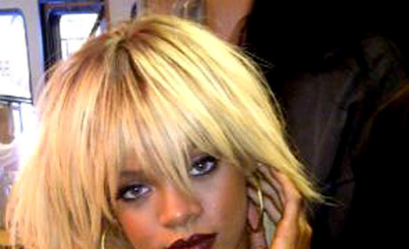 Rihanna: Topless! Blonde! Tweeting!
