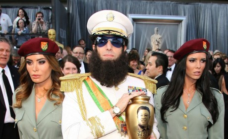 Academy Awards Fashion Face-Off: The Dictator vs. Brad Pitt