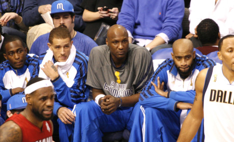 Lamar Odom on the Bench