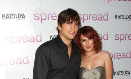 Ashton Kutcher Supports Rumer Willis, Attends Los Angeles Concert