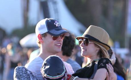 Chord Overstreet and Emma Roberts at Coachella