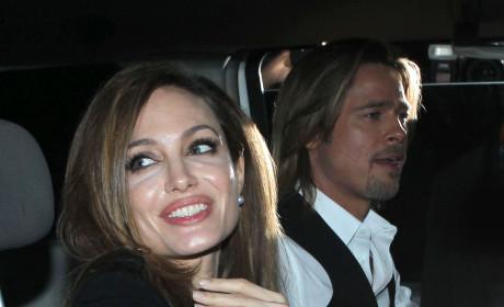 Angelina and Brad Photo