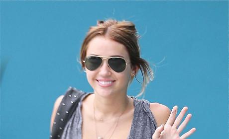 Miley Cyrus Paparazzi Pic