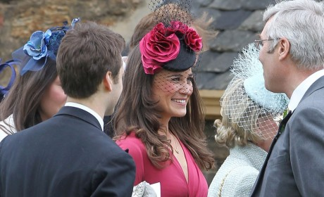 Pippa Middleton Turns Heads in Raspberry Dress