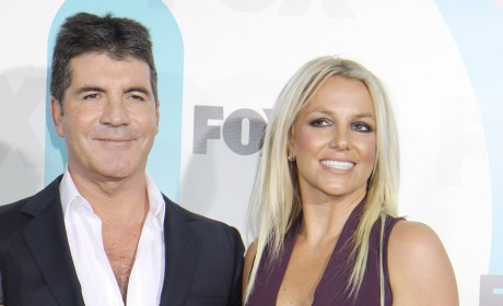 Simon Cowell and Britney Spears