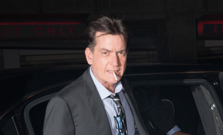 Charlie Sheen Smoking