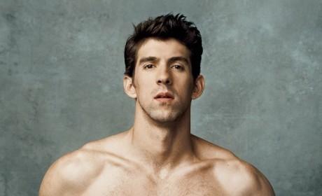 Shirtless Michael Phelps