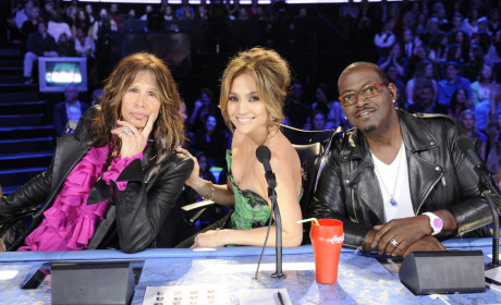 Randy Jackson, Steven Tyler and Jennifer Lopez