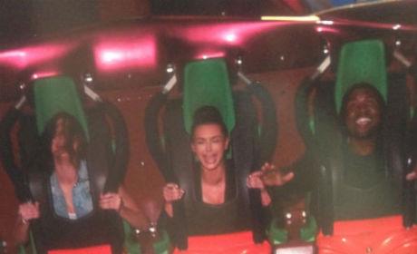 Kim Kardashian Kries on Roller Koaster