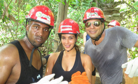 Kim Kardashian and Kanye West Go Wild with Joe Francis in Mexico