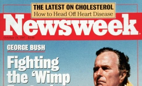 George H.W. Bush Wimp Newsweek Cover