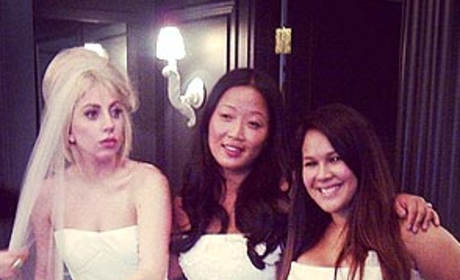 Lady Gaga Wedding Dress Photo With Vera Wang: What the ...