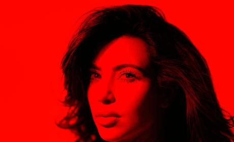 Kim Kardashian Sees Red