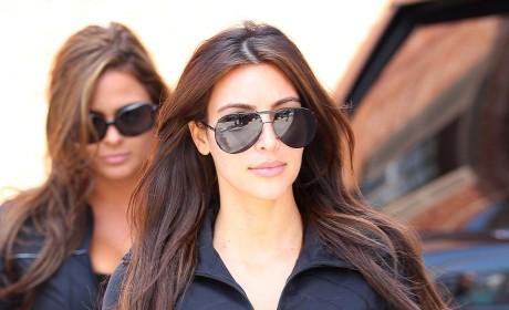 Kim Kardashian Goes for a Stroll