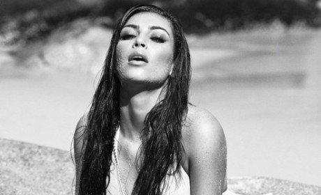 Kim Kardashian Bathing Suit Shot