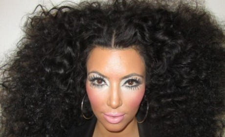 Kim Kardashian Makes Like Diana Ross