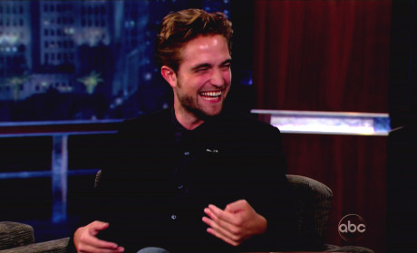 Robert Pattinson Cracks Up