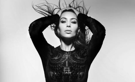 Kim Kardashian in Black and White