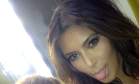 Kim Kardashian Tongue