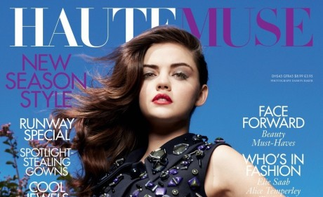 Lucy Hale Covers Haute Muse, Addresses Anastasia Steele Rumors