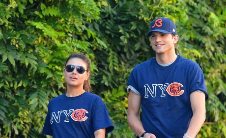 Mila Kunis and Ashton Kutcher Love the Bears, Each Other
