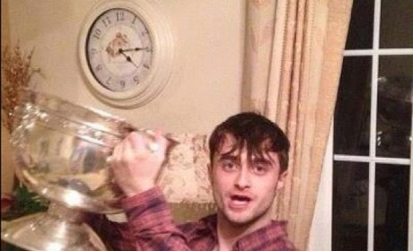 Daniel Radcliffe Parties with Irish Soccer Champions