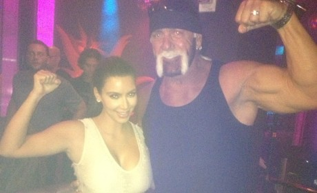Hulk Hogan and Kim Kardashian