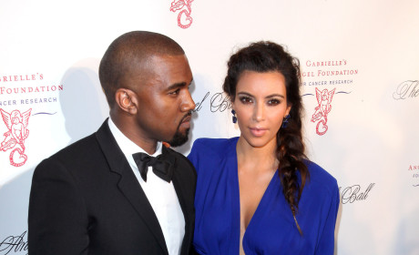 Kim Kardashian and Kanye West on the Red Carpet