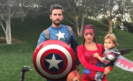 Scott Disick and Kourtney Kardashian on Halloween