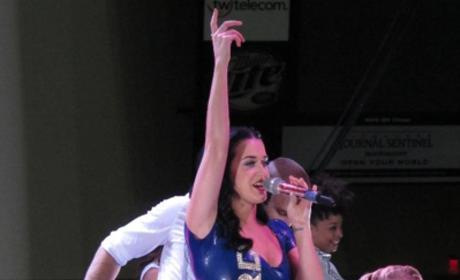 Katy Perry Skin-Tight Dress