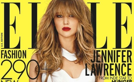 Jennifer Lawrence Elle Cover: Fashionable, Gorgeous, Real