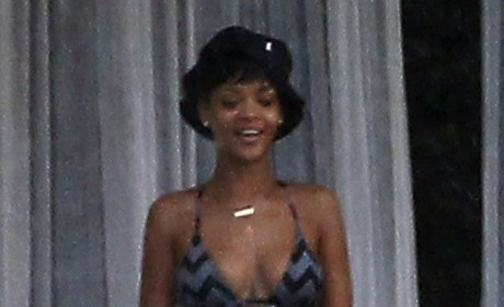 Rihanna Swimsuit Photos: Barely There in Barbados