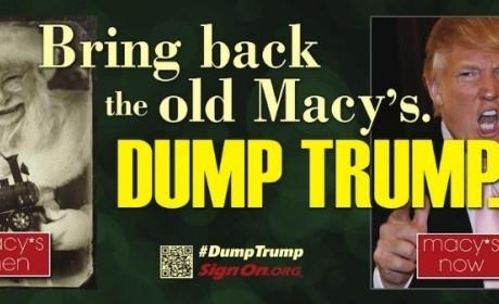 Dump Trump Billboard: Circling Macy's Headquarters!