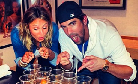 Stacy Keibler and Michael Phelps: Beer Pong Partners!