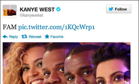 "Kanye West Posts Twit Pic of ""FAM"""