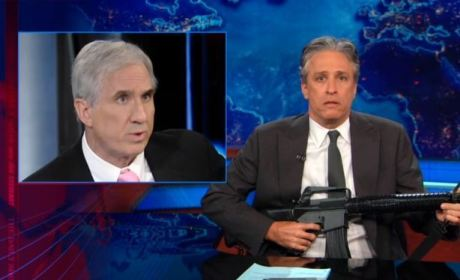 "Jon Stewart, Plastic Gun Attack NRA, ""Paranoid Fear"" of Future"