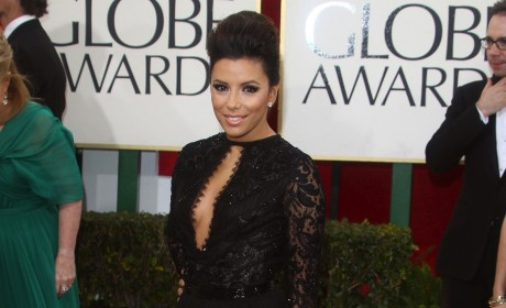 Eva Longoria at the Golden Globes